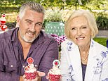 Television programme: The Great Comic Relief Bake Off 2015, Picture Shows - chef Paul Hollywood and television presenter Mary Berry.    (C) Love Productions - Photographer: Tom Dymond