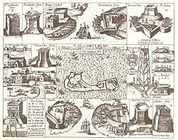 John Smith 1624 map of Bermuda with Forts 01.jpg
