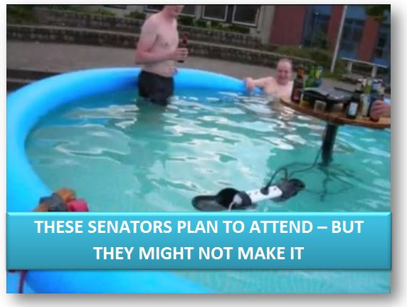 These Senators would've come, but the pool was so nice...