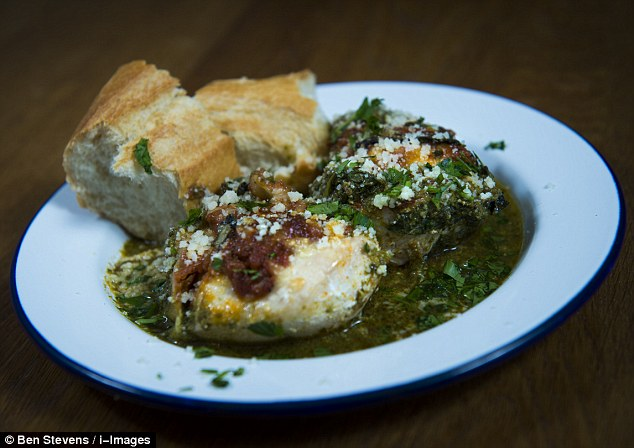 Chicken with basil pesto sauce and parmesan - ready meal or homemade?