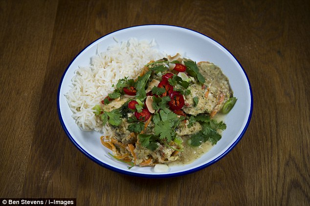 Thai green chicken with rice and chilli - ready meal or homemade?