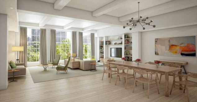 Luxury fortress: Chelsea Clinton's new $10million pad is New York's longest apartment - stretching an entire block from 26th Street to 27th Street off Madison Avenue