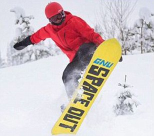 Lewis Hamilton goes snowboarding in Canada as he celebrates a white Christmas