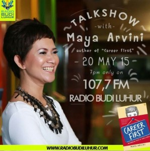 Poster Talkshow radio bareng mbak Maya Arvini