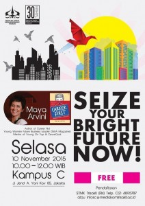 Poster Seminar Seize Your Bright Future Now