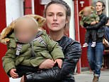 (EXCLUSIVE PICTURES ALL ROUND) Actress Keira Knightley with her daughter Edie out and about in London, UK. 02/10/2016..BYLINE MUST READ : TAXI/GOTCHAIMAGES.COM....Copyright by © Gotcha Images Ltd. All rights reserved...Usage of this image is conditional upon the acceptance ..of Gotcha Images Ltd, terms and conditions available at..www.gotchaimages.com