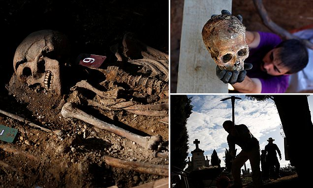 Mass grave containing 200 people slaughtered by Spanish dictator Franco is discovered