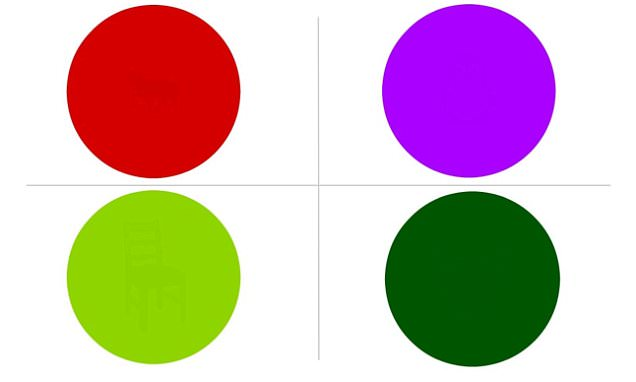 Fiendish dot test that conceals objects inside coloured circles leaves the web stumped