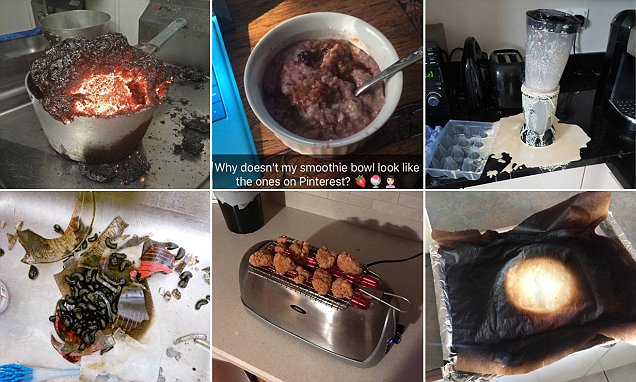 Hilarious photos of exploding lunches and burnt dinners revealed