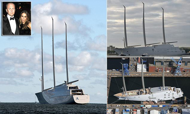 World's largest sailing superyacht Sailing Yacht A is taken for test run in Germany