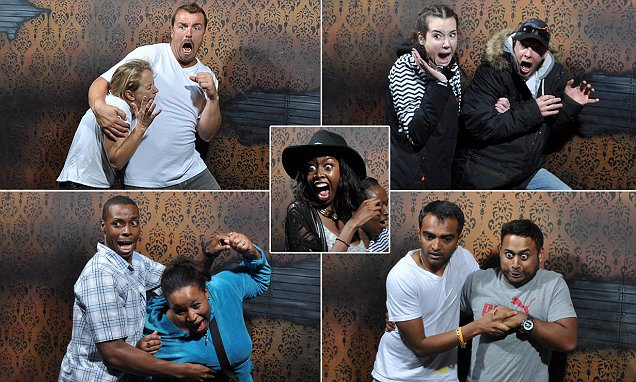 Photos capture tourists' expressions of terror inside Nightmares Fear Factory, Ontario