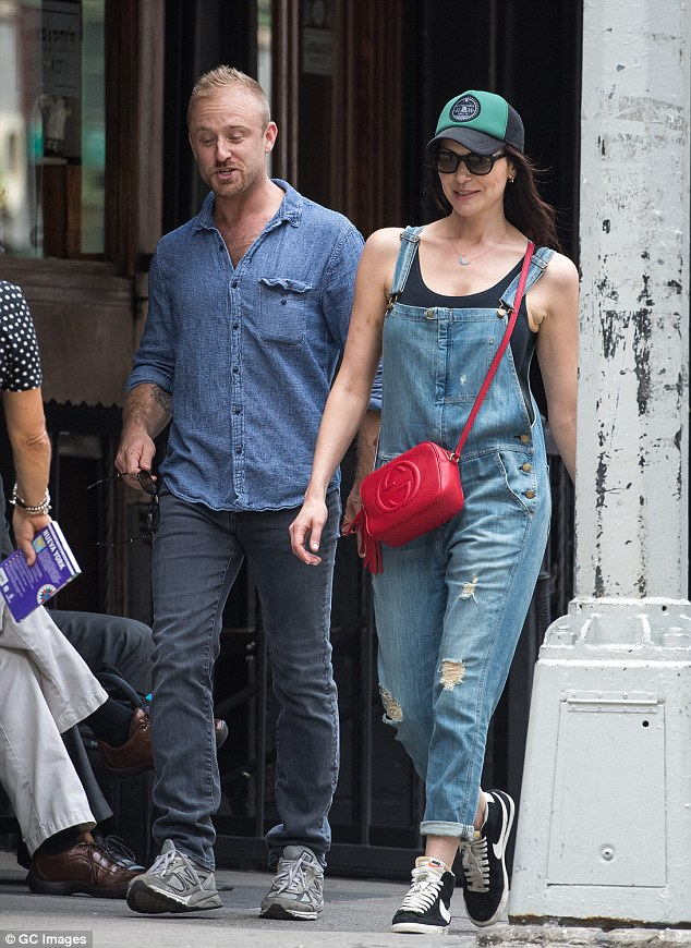 Romance blossoming: The actors are pictured out together in New York on June 21