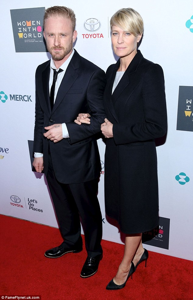 Didn't work out: Foster, 36, split from fiancee Robin Wright, 50, last year
