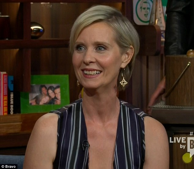 Glowing review: Cynthia Nixon raved about Sarah Jessica Parker's new HBO show on Tuesday on Bravo's Watch What Happens Live
