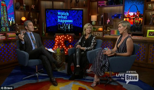 In the clubhouse: WWHL host Andy Cohen also attended the Divorce premiere with Cynthia and Olivia before the chat show