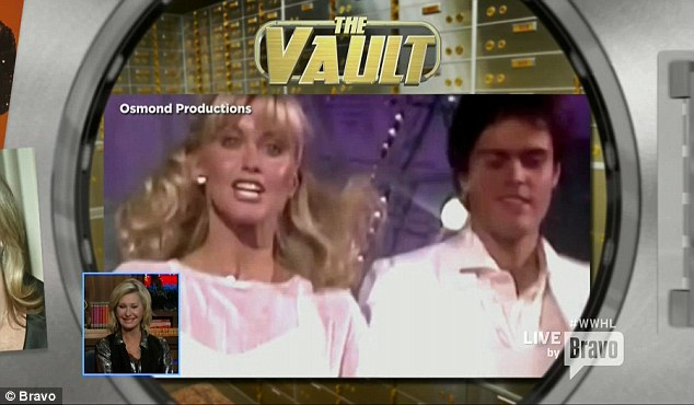 Throwback photo: Andy opened the Mega Vault and showed a picture of Olivia singing with Donny Osmond