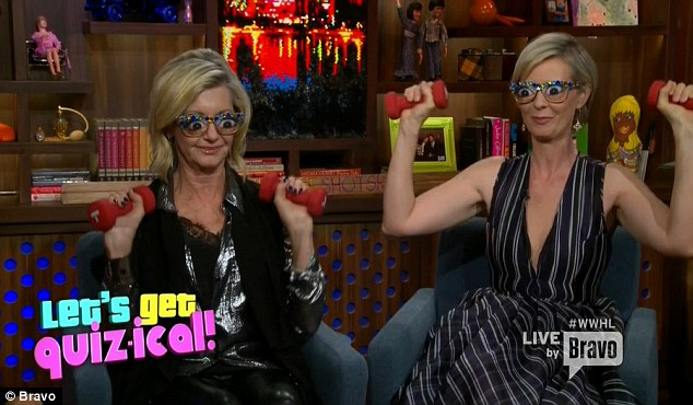 Housewife eyes: Cynthia and Olivia wore Ramona Singer glasses for another game