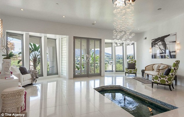 Uplifting: Water displays in parts of the home make for a relaxing effect on its inhabitants