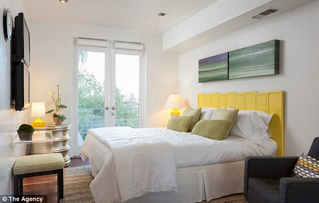 Five-star: Guest bedrooms in the home rival the amenities offered in upscale hotels