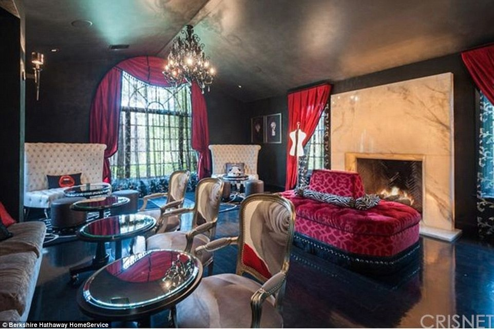 Celebrity-owned: Angelina Jolie's rental in guard-gated Hidden Hills is owned by Denise Richards who's spent several years redecorating and remodeling the 8,300-square-foot home