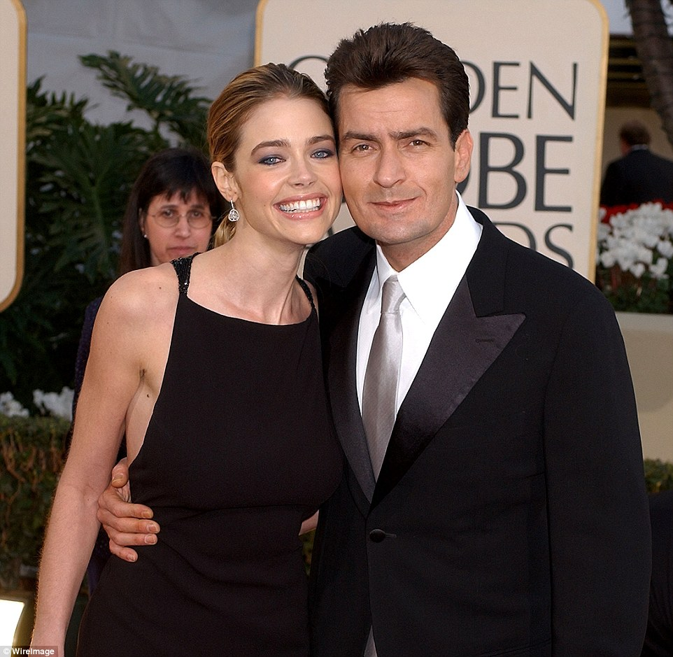 Wants to offload home: Richards, pictured with ex-husband Sheen in 2002, has been trying to sell the estate since June 2015 and has lowered the listing price twice in the hopes of finding a buyer