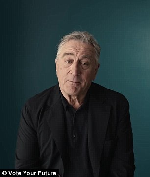Old School: Robert De Niro and Jonah Hill also called on Americans to use their vote