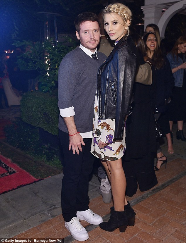 Happier times: Kevin and Sabina are shown in November 2015 in Los Angeles