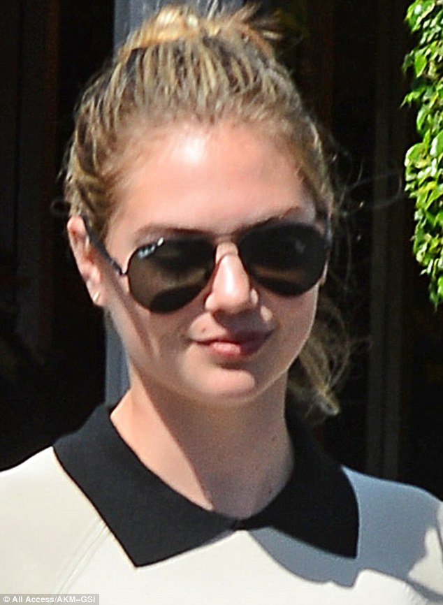 Specs appeal: She rounded off her stylistic mode with a pair of trendy aviator sunglasses
