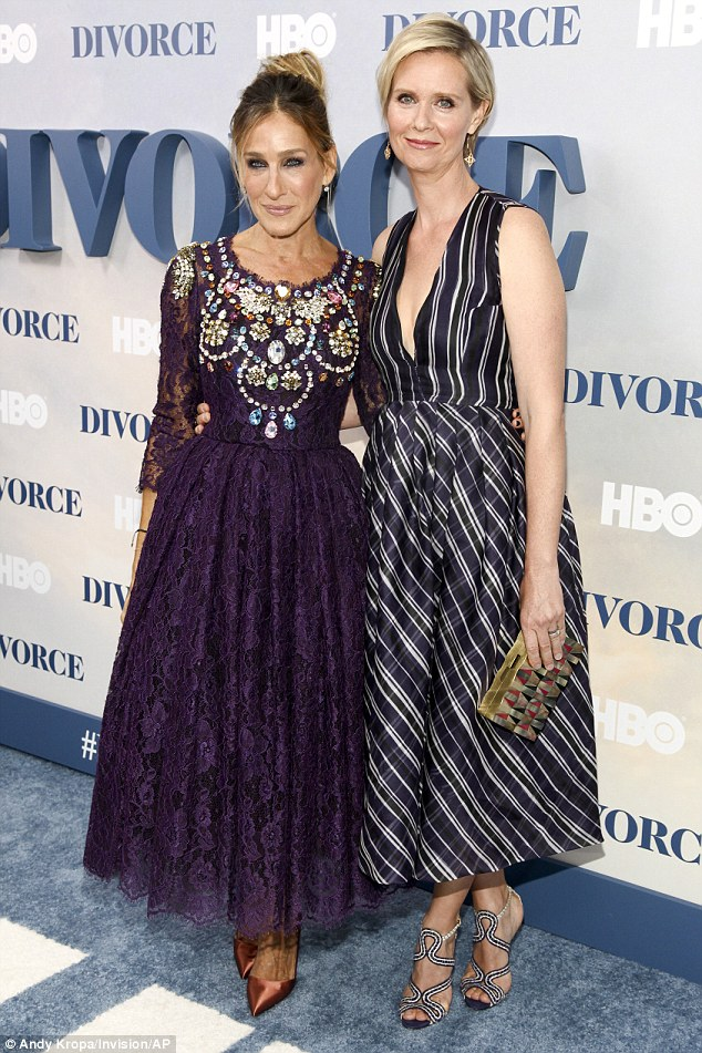 Look who it is! Sarah was joined by her former SATC co-star Cynthia Nixon