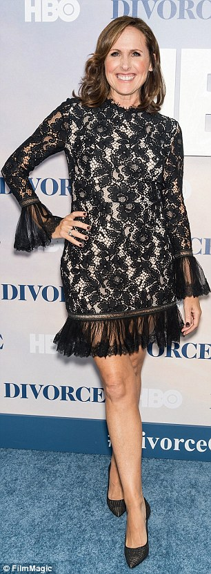 Lovely in lace! Molly Shannon and Alysia Reiner were on the same page with sheer fabrics