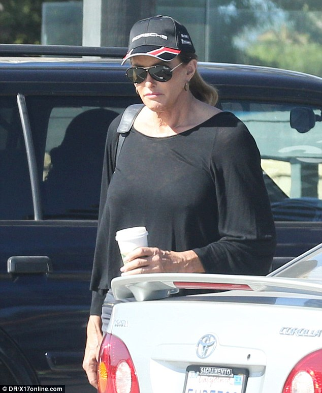 Low profile: Caitlyn was spotted out in Malibu on Tuesday