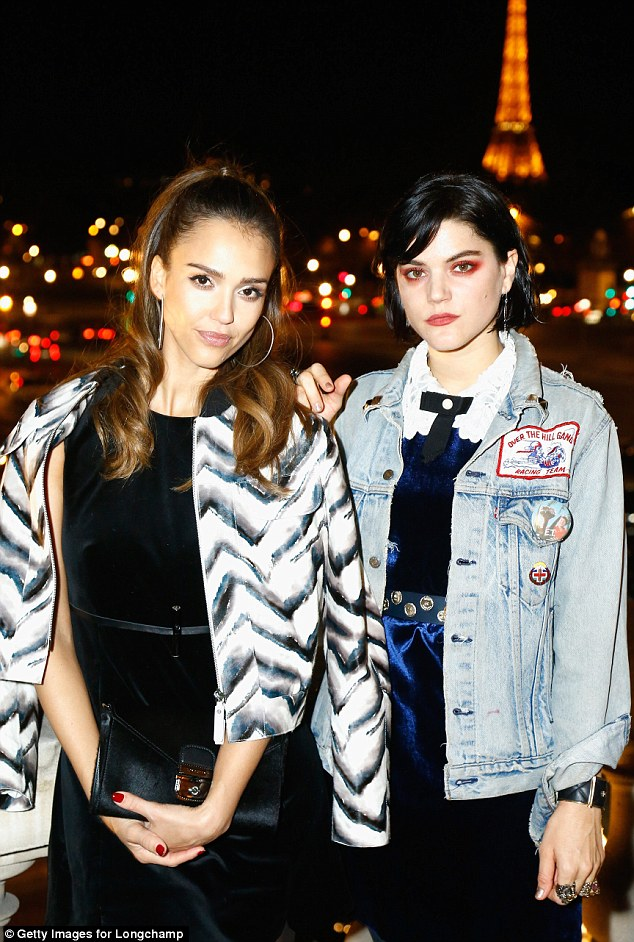 Old pals? Jessica hung out with Kristen Stewart's ex, Soko (right)