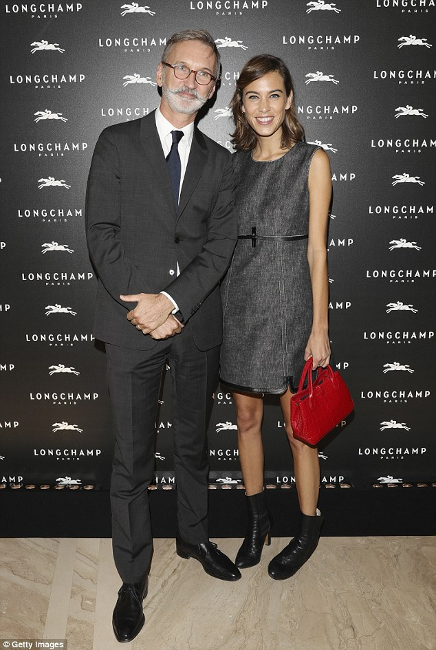 Teaming up: Alexa is the new muse for Longchamp, here withJean Cassegrain