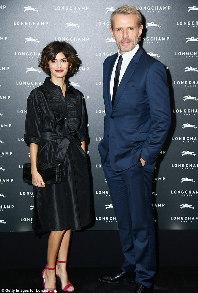 Perfect pair: Audrey shared the red carpet with Lambert Wilson