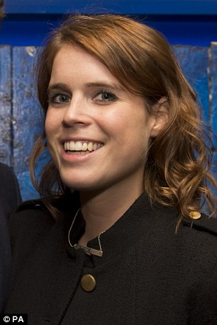 Eugenie happily posed for pictures as she arrived at the event and the young royal was beaming from ear to ear as she stood next to her boyfriend