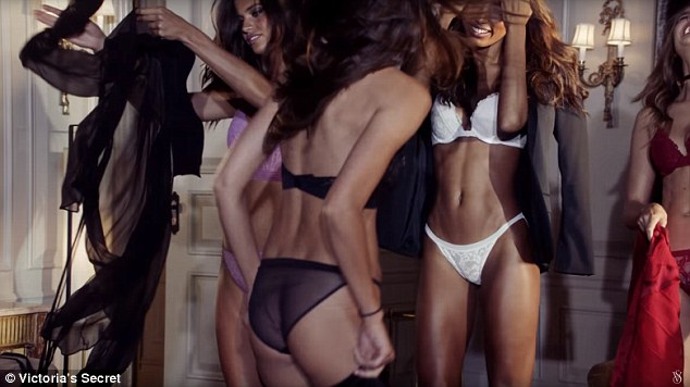 Dance party! Many of the models can be seen wearing little more than a bra and underwear