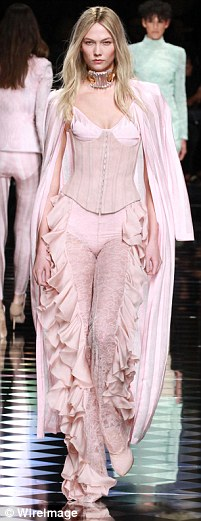 Shade of the season: Pink hues were seen all over the fall/winter 2016 runways including the Balmain show