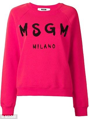 Bold sweaters: MSGM sweater, $145.58, farfetch.com