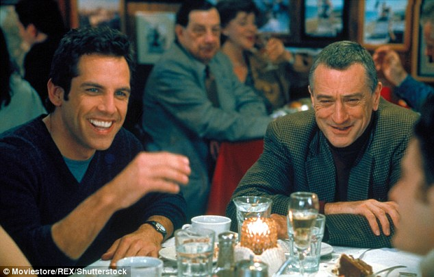 Stiller called Robert De Niro, his co-star in Meet the Parents (above) after finding out he had survived prostate cancer too