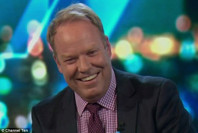 Peter Helliar (pictured), who is balding, was fascinated by the tot's luscious locks and continually referred to the picture as a running joke throughout the night
