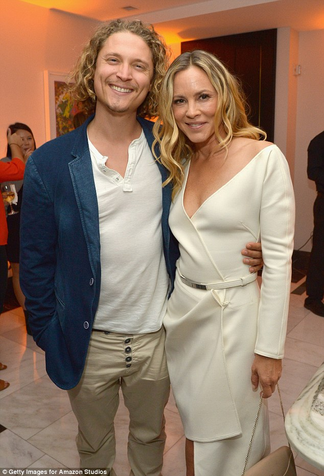 Her new fellow:The blonde beauty, 49, has been dating Elijah Allan-Blitz, 29; here they are seen on September 26 in LA