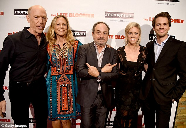 More pals: Maria and Kevin with (L-R) Actors J.K. Simmons, Brittany Snow and Johnny Simmons