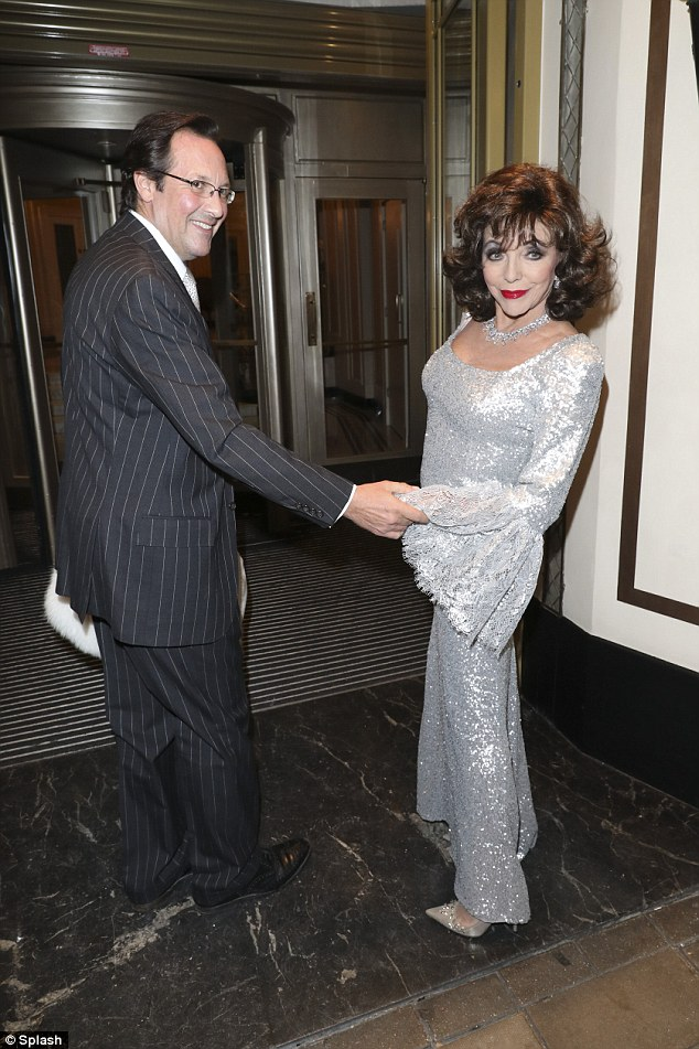 Dame Joan is currently enjoying marital bliss with her fifth husband Percy Gibson, 51, (pictured) who she wed in 2002 - her longest marriage to date
