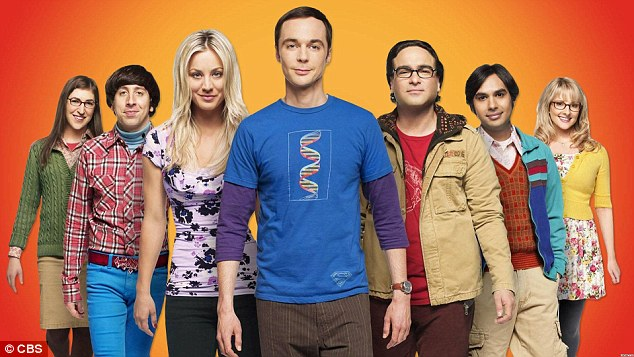 Kaley Cuoco (center left), Jimmy Parsons (center), and Johnny Galecki (center right) earn $1million per episode of The Big Bang Theory