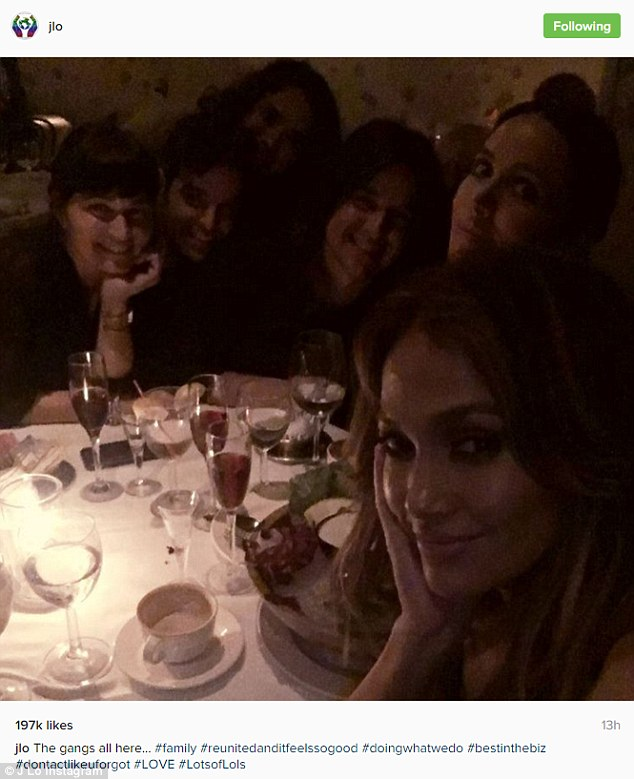 Lots of LOLs:Also on Monday the Booty singer shared a photo where she was dining with pals. She said they were the 'best in the biz'