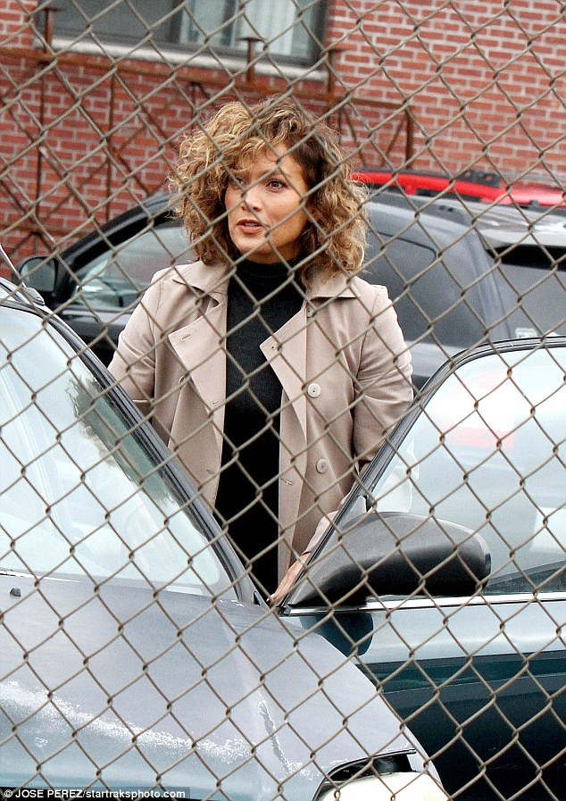 Working girl: On Tuesday the beauty was spotted on the NYC set of Shades Of Blue