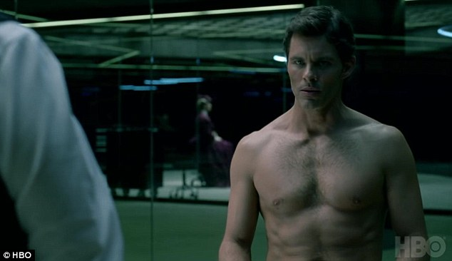 His turn: James Marsden appears shirtless in the show as well