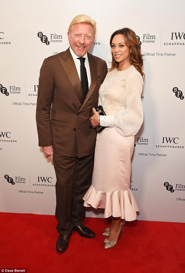 Date night: Boris Becker and his wife Lilly put on a loved-up display on the red carpet