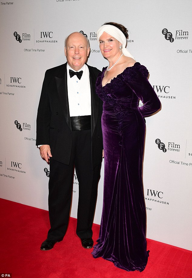 Man of the moment: Julian Fellowes and Lady Emma Fellowes were in attendance