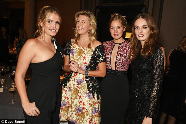 High society: Lady Kitty Spencer, Caroline Rupert, Marissa Montgomery and Lady Violet Manners (from left to right) joined forces